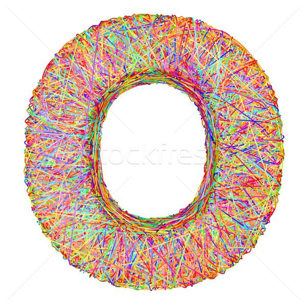 Alphabet symbole coloré isolé blanche Photo stock © oneo