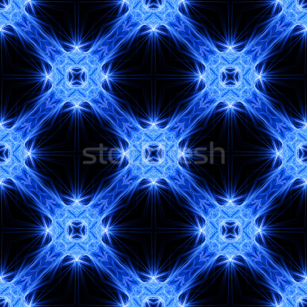 Abstract seamless pattern of diagonal blue and white rays Stock photo © oneo