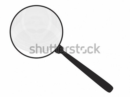 Magnifying glass isolated on white Stock photo © oneo
