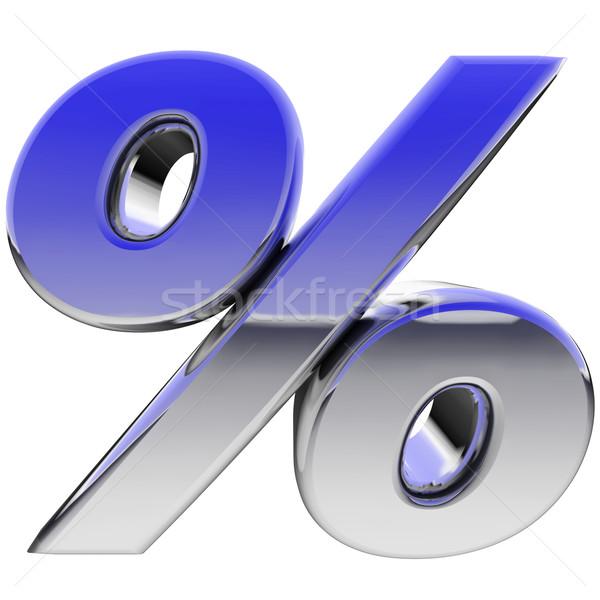 Cromo por cento assinar cor gradiente reflexões Foto stock © oneo