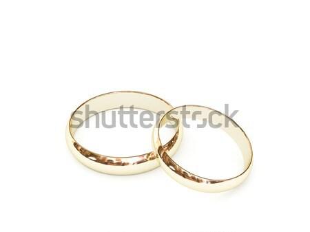 金 結婚指輪 白 高い 3D ストックフォト © oneo