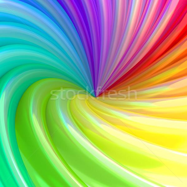 Abstract kleurrijk swirl pijpen hoog Stockfoto © oneo