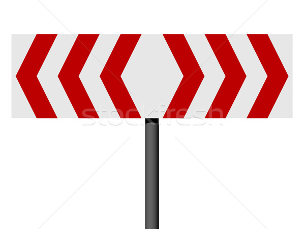 Vermelho branco diferente direção assinar isolado Foto stock © oneo