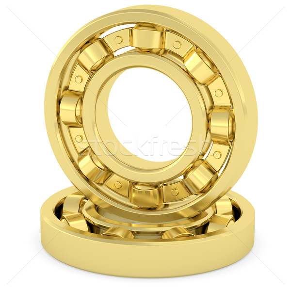 Golden bearings on white background Stock photo © oneo