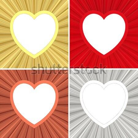 Rouge coeur or élevé résolution Photo stock © oneo
