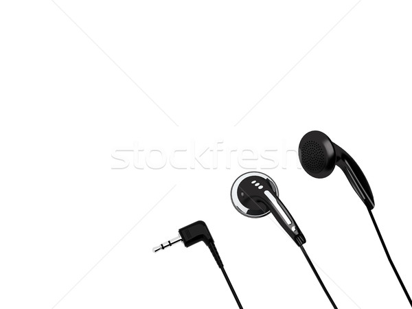 Headphones and stereo MiniJack isolated on a white background Stock photo © oneo