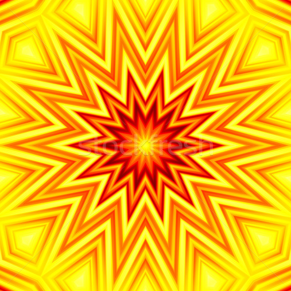 Yellow-red star abstract background Stock photo © oneo