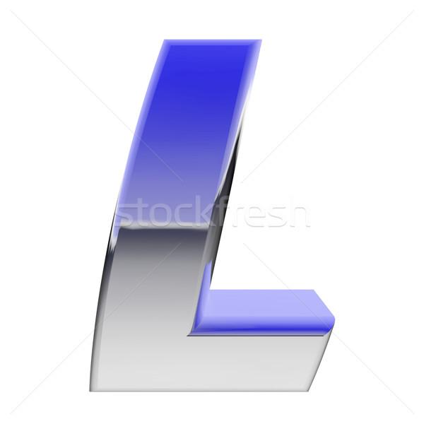 Chroom alfabet symbool letter l kleur helling Stockfoto © oneo