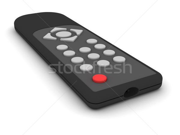 Universel télécommande blanche élevé résolution 3D Photo stock © oneo