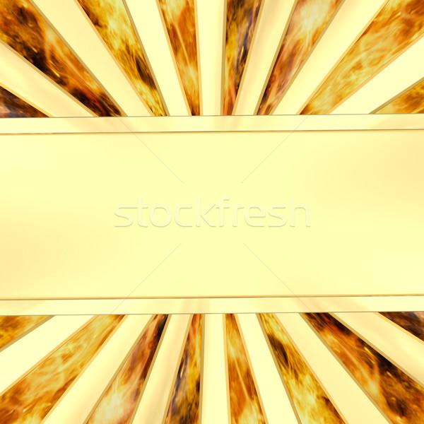Dorado placa llama alto Foto stock © oneo