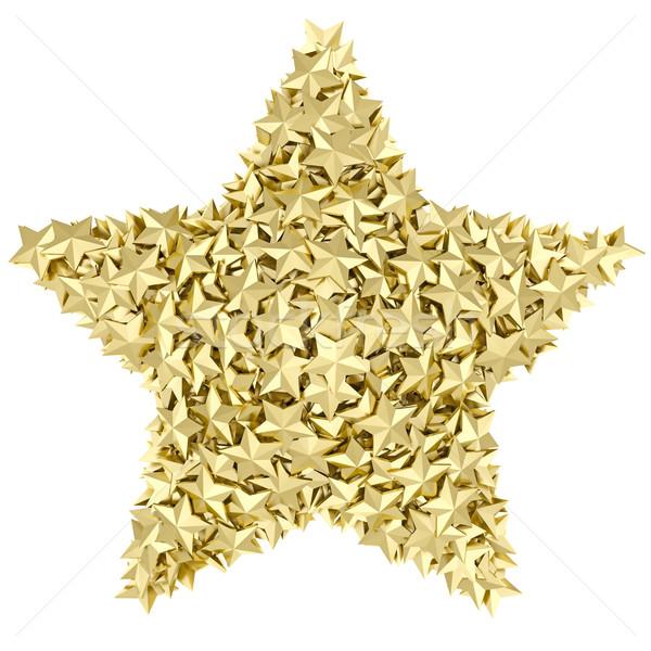 Estrellas forma pequeño dorado estrellas blanco Foto stock © oneo