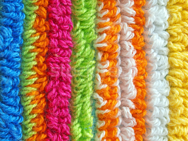 Colorful striped  fabric texture Stock photo © oneo