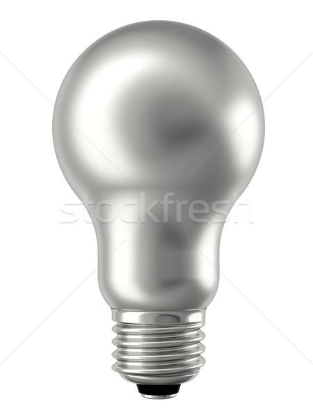 Argent ampoule isolé blanche élevé résolution Photo stock © oneo