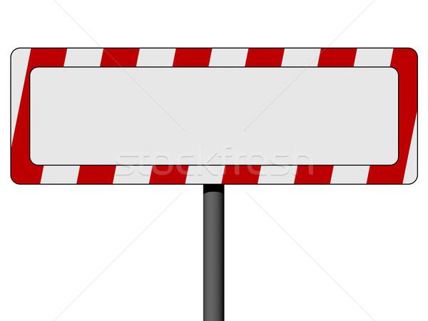 üres információ jel piros fehér keret izolált Stock fotó © oneo