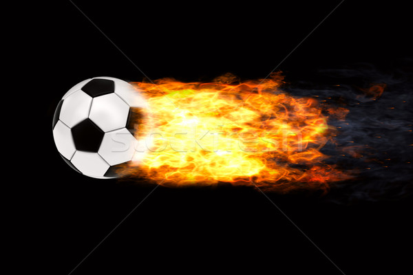 Soccer ball in flames Stock photo © oneo