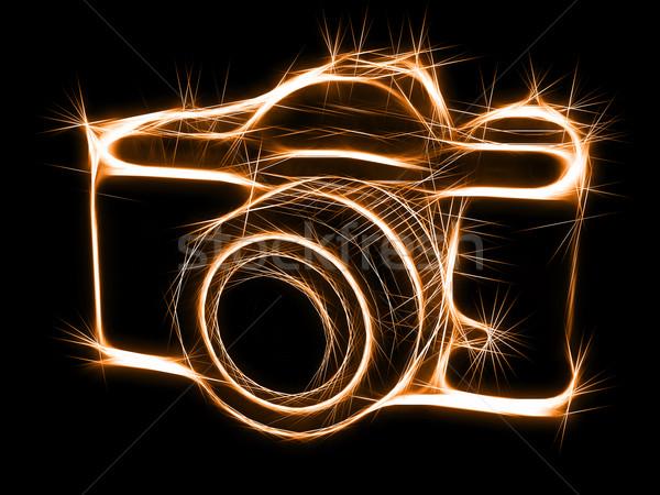 Silhouette résumé élevé résolution 3D Photo stock © oneo