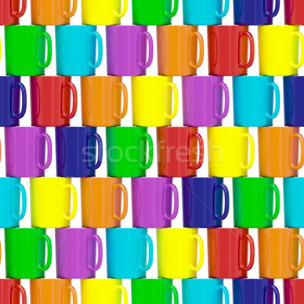 бесшовный красочный керамической изолированный белый Сток-фото © oneo