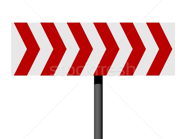 Red and white direction sign Stock photo © oneo