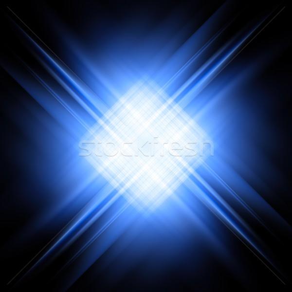 Diagonal bleu blanche noir résumé Photo stock © oneo