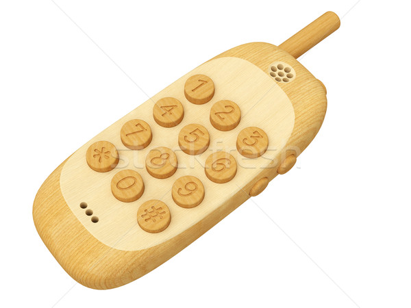 Teléfono móvil aislado blanco alto Foto stock © oneo