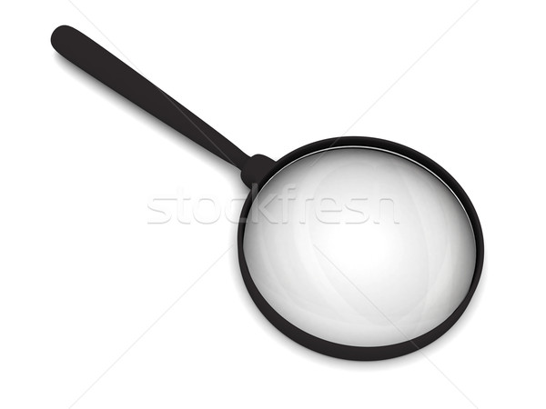 Magnifying glass with soft shadows Stock photo © oneo