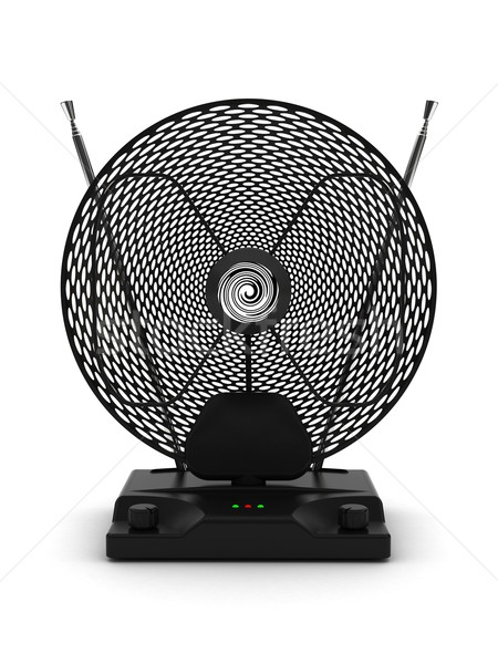 Portátil televisão rádio antena ajustável branco Foto stock © oneo