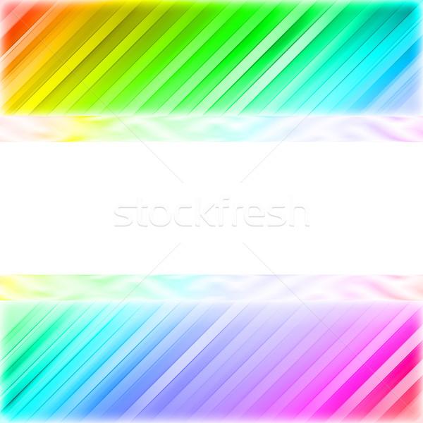 白 プレート カラフル 対角線 行 高い ストックフォト © oneo