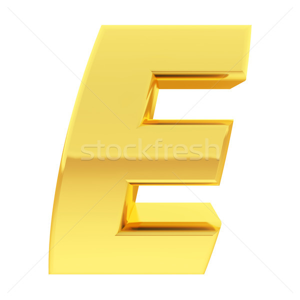 Goud alfabet symbool helling Stockfoto © oneo