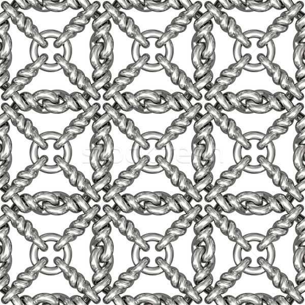 серебро проволоки забор белый Сток-фото © oneo