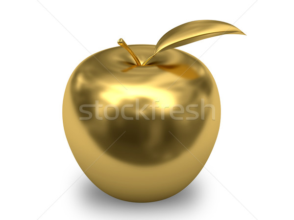 Golden apple on white background Stock photo © oneo