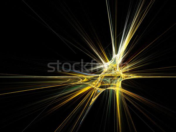 フラクタル 星 バースト 黒 高い ストックフォト © oneo