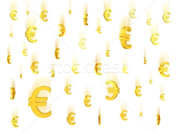 Relevant or euros symboles blanche élevé Photo stock © oneo