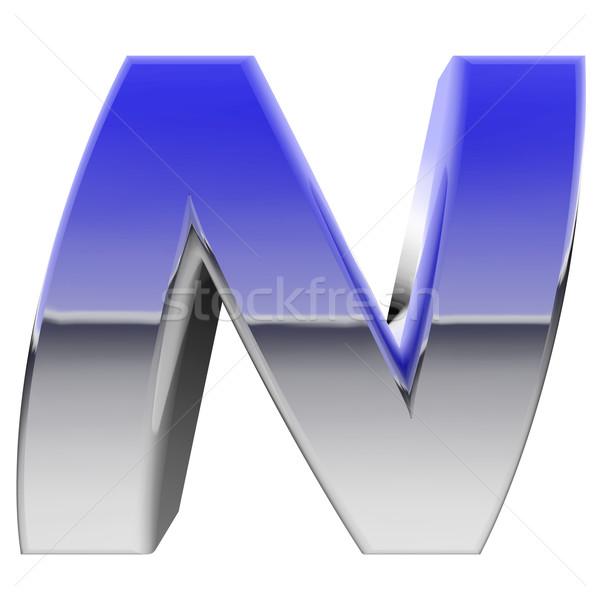 Chrome alphabet symbole couleur gradient Photo stock © oneo
