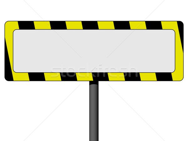 üres információ jel citromsárga fekete keret izolált Stock fotó © oneo