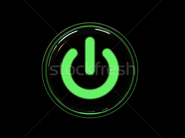 Green power button Stock photo © oneo