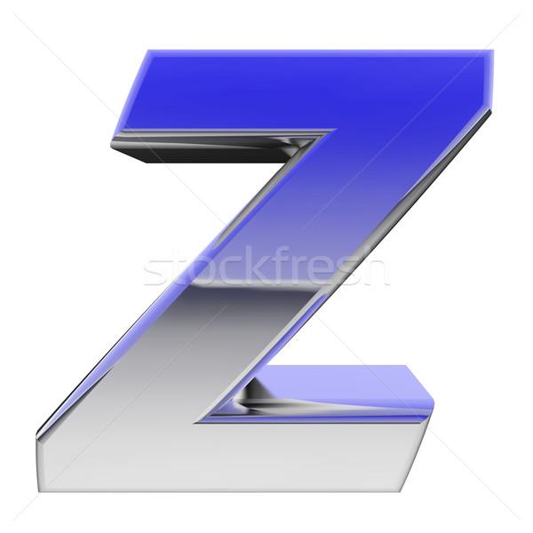 Króm ábécé szimbólum z betű szín gradiens Stock fotó © oneo