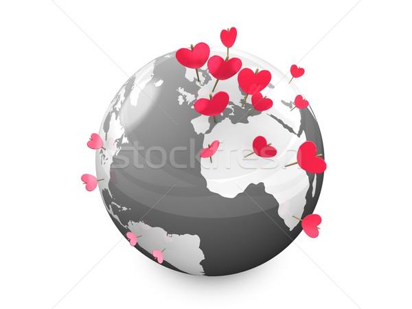 Stok fotoğraf: Kalp · 3D · görüntü · kalp · şekli · işaretleyici
