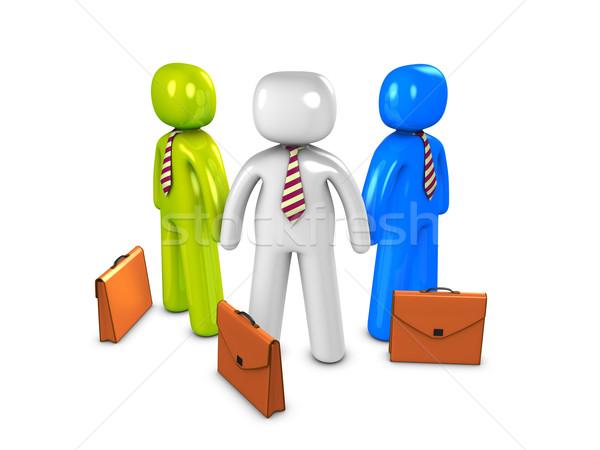 セールスマン 3D 画像 グループ ビジネス マーケティング ストックフォト © OneO2