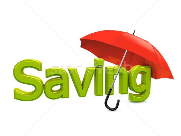 Saving umbrella Stock photo © OneO2