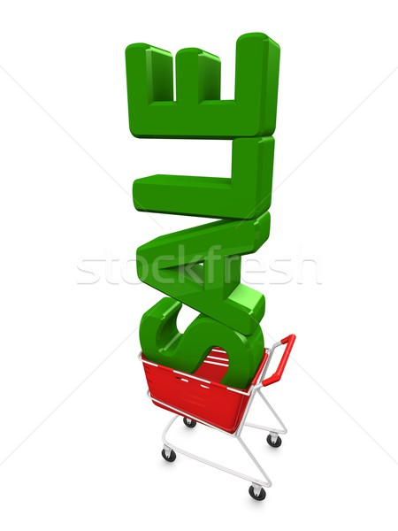Stock photo: Sale cart
