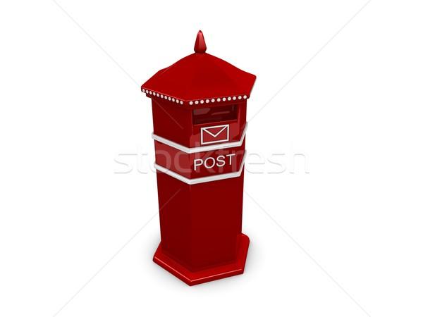 Post vak 3D Rood geïsoleerd Stockfoto © OneO2