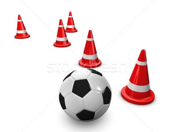Futbol eğitim 3D görüntü arka plan Stok fotoğraf © OneO2