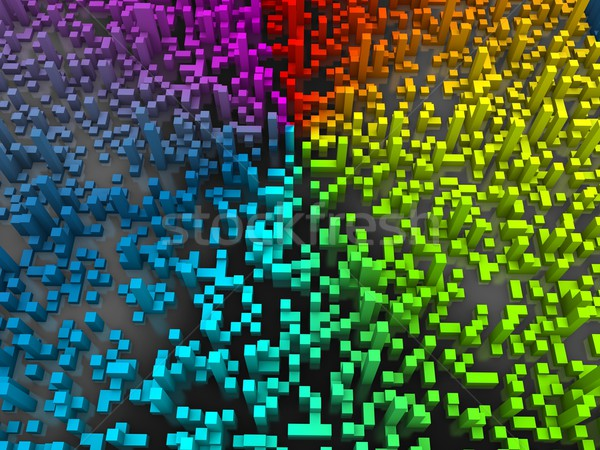 Abstract cubes background Stock photo © OneO2