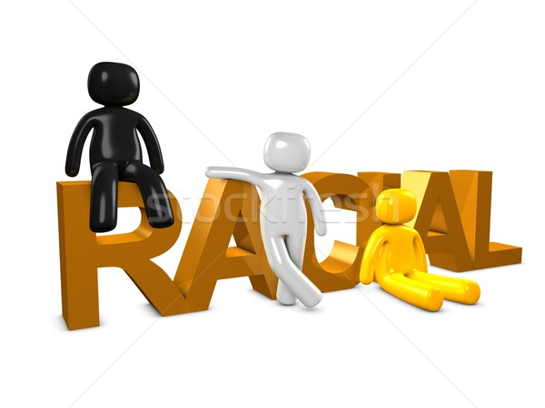 Racial 3D imagem unidade grupo cor Foto stock © OneO2