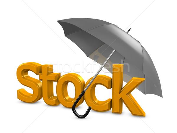 Stock umbrella Stock photo © OneO2