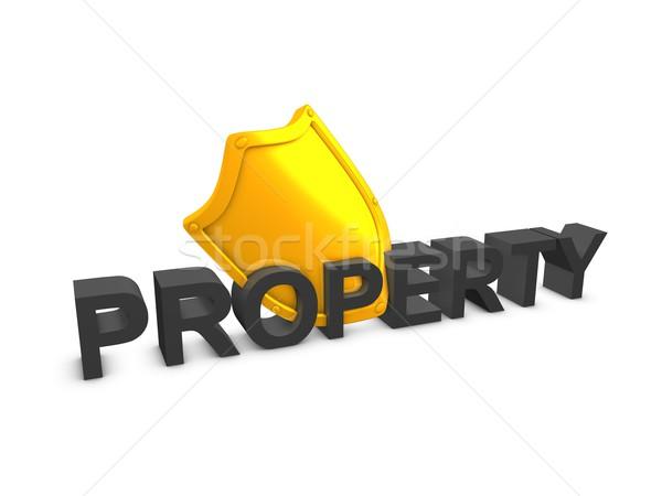 Peoperty shield Stock photo © OneO2