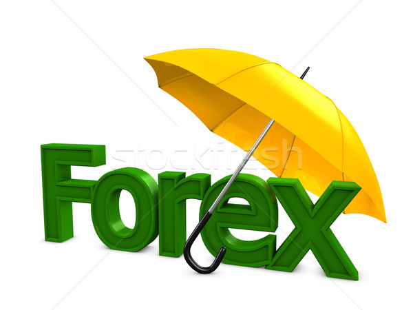 Forex parapluie 3D image investissement affaires Photo stock © OneO2