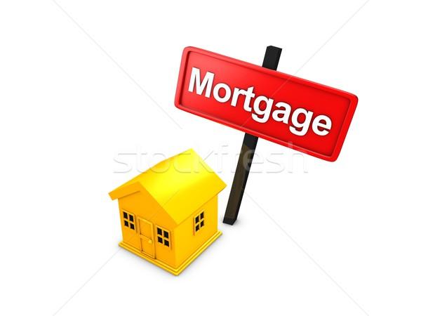 Hypothèque 3D prêt isolé blanche Photo stock © OneO2