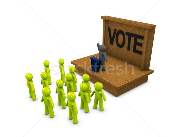 Kampány 3D kép politikai buli hangszóró Stock fotó © OneO2