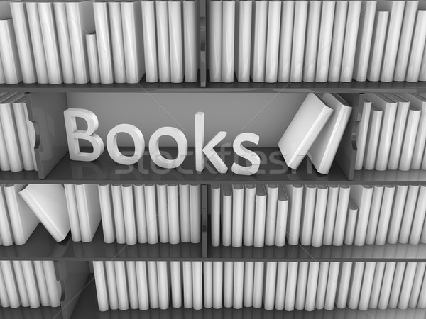 library book rack Stock photo © OneO2